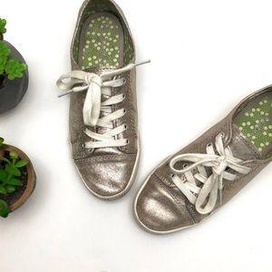 Boden Metallic gold sneakers